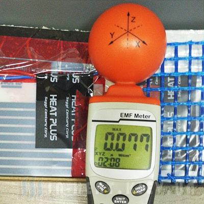 Прибор измерения инфракрасного излучения и полосатая пленка