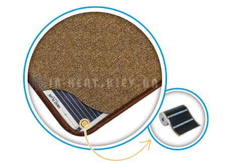 Нагревательный коврик электрический коричневый строение
