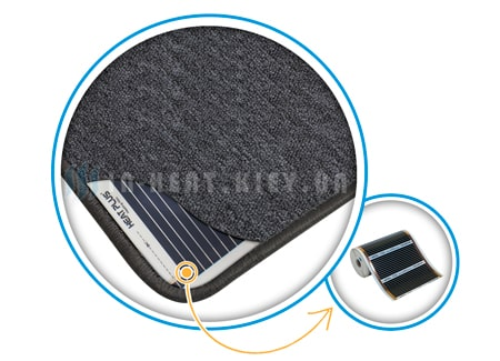 Нагревательный коврик электрический серый строение