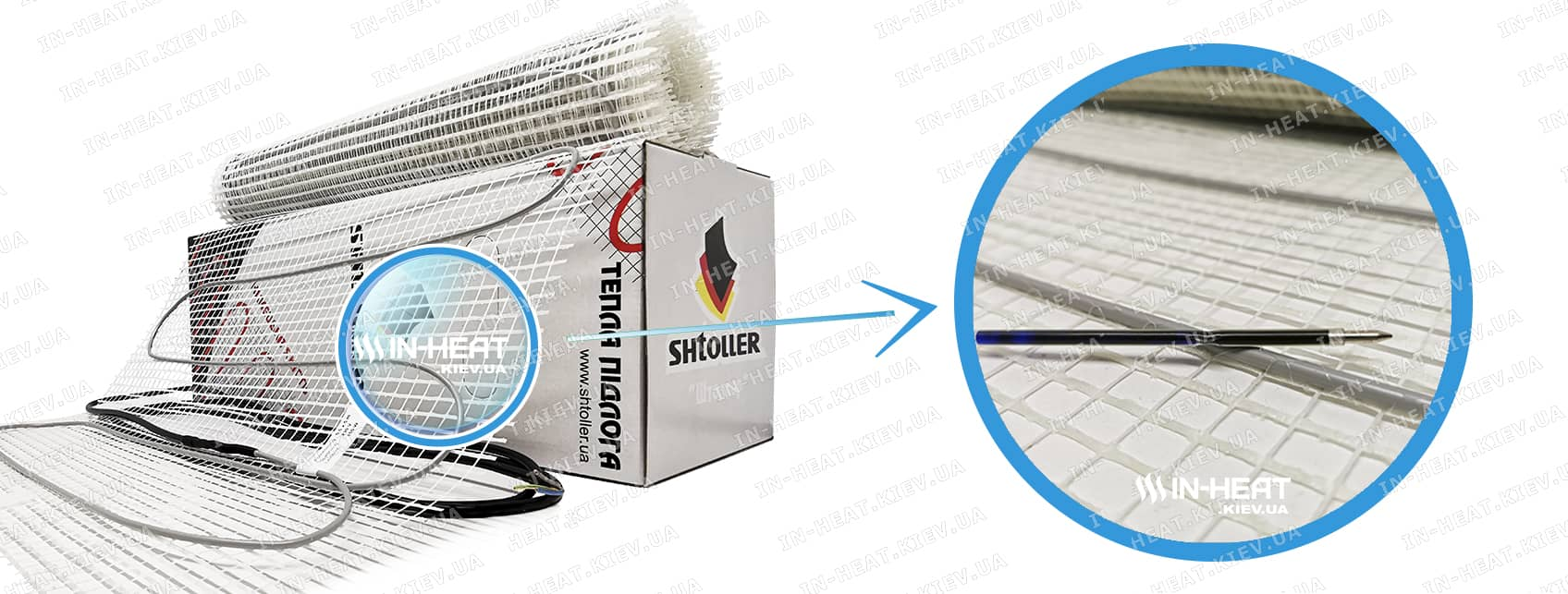 Нагревательный кабельный мат Shtoller