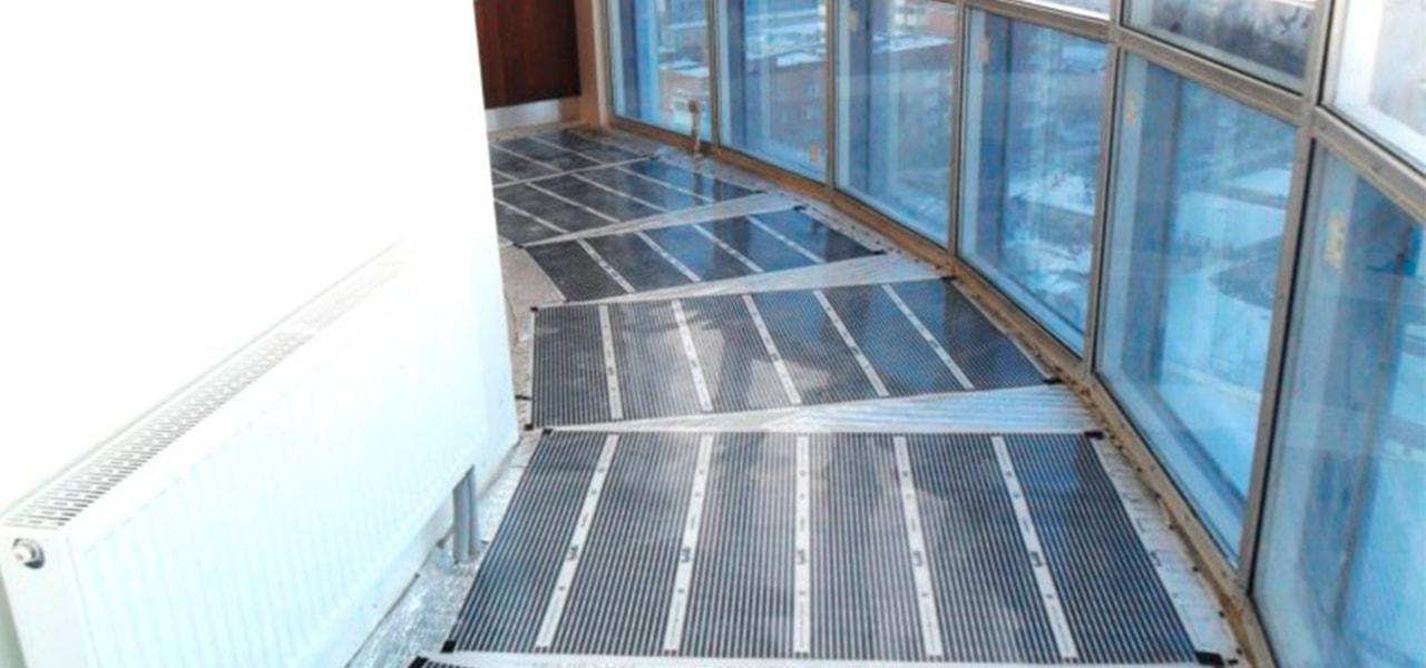 инфракрасный теплый пол на балкон - фото
