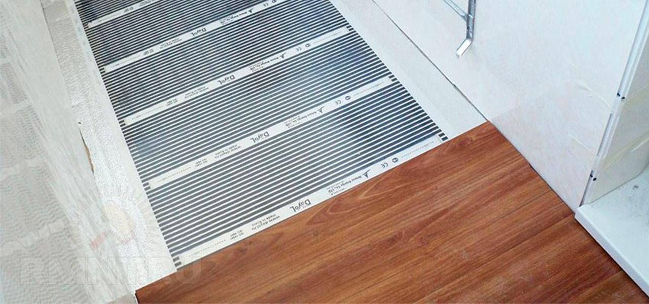 пленочный теплый пол на балконе - фото
