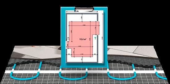 Схеми монтажу кабельної теплої підлоги