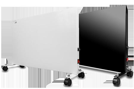 Керамическая нагревательная панель в комнате