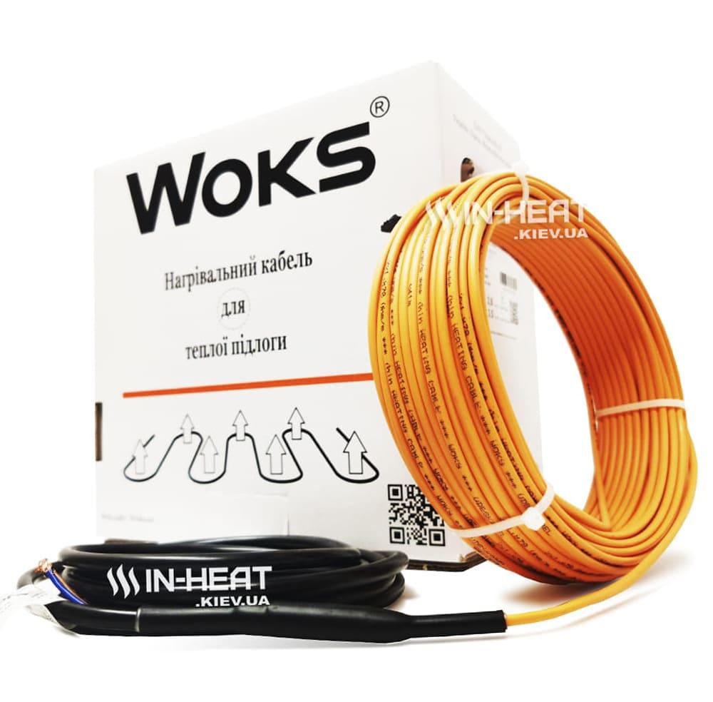 Нагревательный кабель под плитку Woks 18 / 6 м / 100 Вт / 0.5 - 0.8 м²