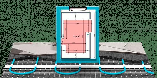 Схема укладки кабельного теплого пола