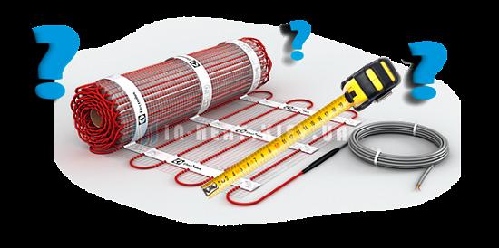 Як вибрати довжину і потужність електричного мата?