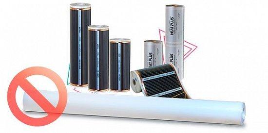 Чи потрібно класти поліетиленову плівку зверху на інфрачервону підлогу?